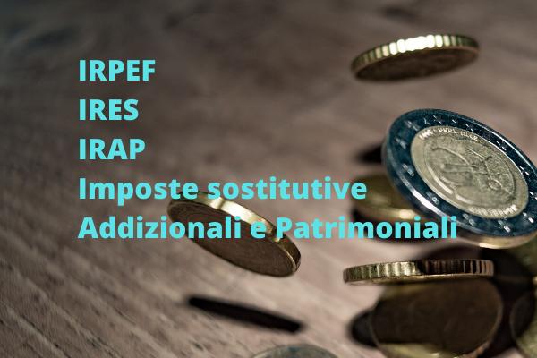 Acconti, imposte sostitutive, addizionali e patrimoniali